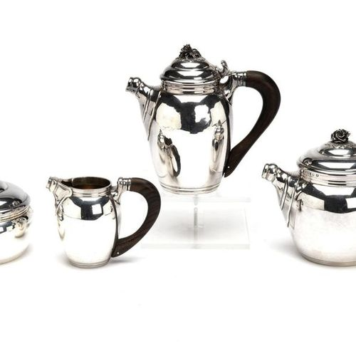 A fine four piece French silver tea service A fine four piece French silver tea …
