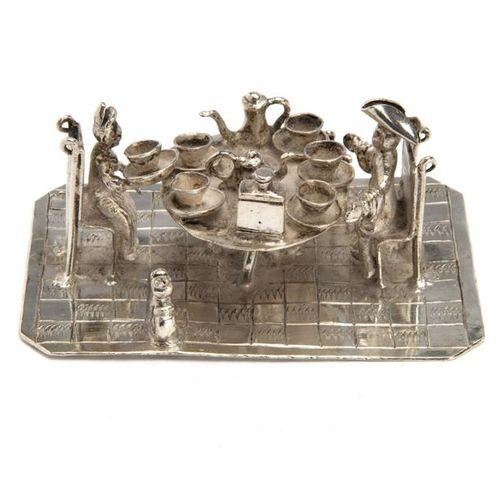 A Dutch silver miniature tea ceremony A Dutch silver miniature tea ceremony, A l…