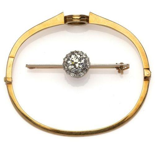 An antique 18k gold diamond set of jewels, by Bonebakker Un ensemble de bijoux a…