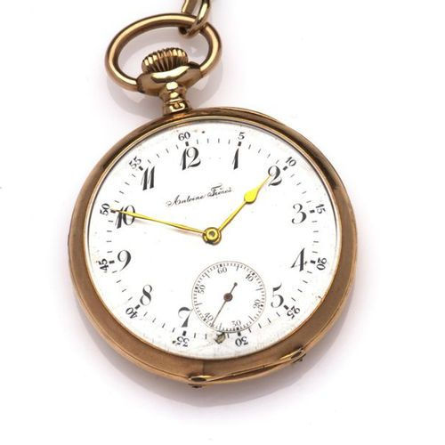 An antique gold pocketwatch, Antoine Freres An antique gold pocketwatch, Antoine…