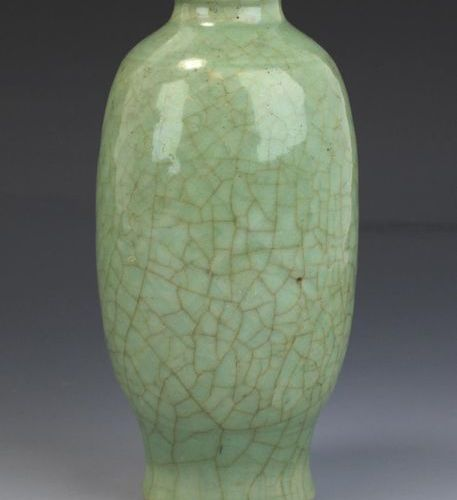 A Longquan celadon vase and Song dynasty plate A Longquan celadon vase and Song …
