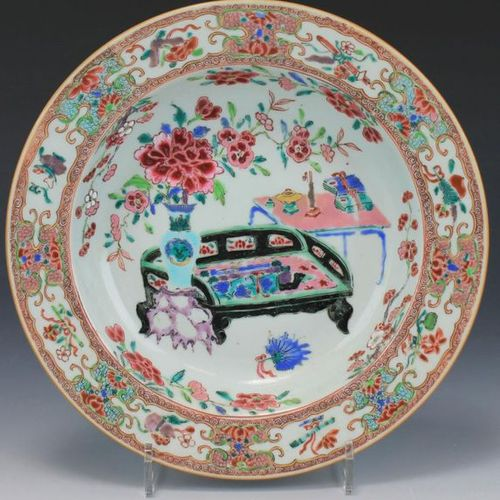 Six famille rose deep plates Six famille rose deep plates, Yongzheng/Qianlong pe…