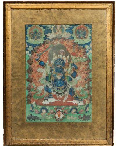 A thangka depicting Vajrabhairava A thangka depicting Vajrabhairava, Himalaya, l…