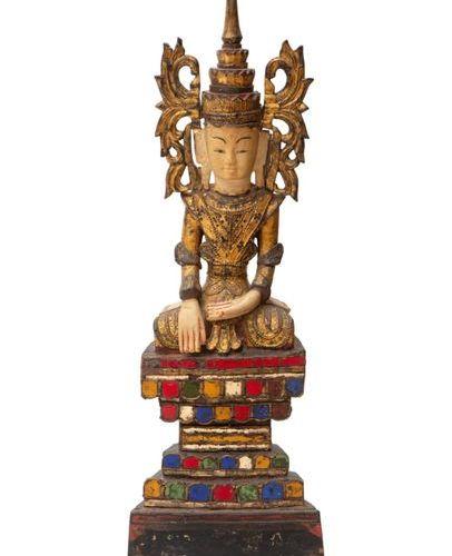 A seated Jambhupati Buddha A seated Jambhupati Buddha, Ca. Late 19th or early 20…