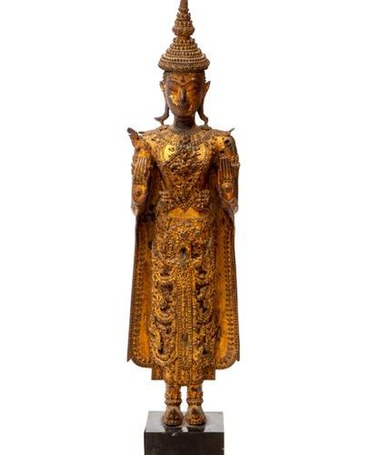 A standing Buddha in Rattanakosin style A standing Buddha in Rattanakosin style,…