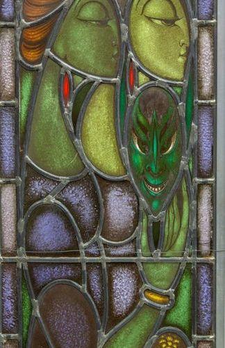 Chris Lebeau (1878 1945) Chris Lebeau (1878 1945), Two stained glass windows, 19…