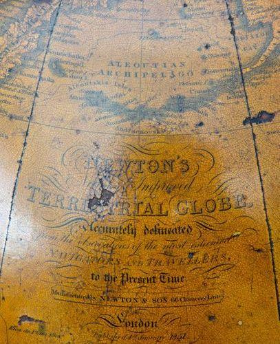 An English terrestrial globe, Newton & Son An English terrestrial globe, Newton …