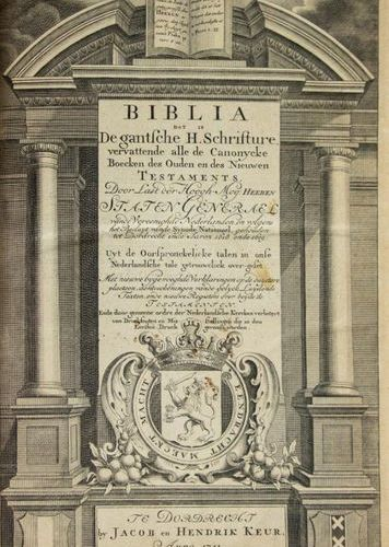 [DUTCH BIBLE] – BIBLIA Dat Is De gantsche H. Schrifture, vervattende alle de Can…