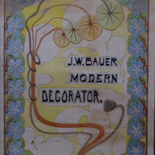 J.W. Bauer (20e eeuw) J.W. Bauer (20e eeuw), Plateel ontwerpen uit circa 1910. M…