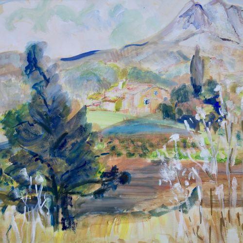 Dirk Filarski (1885 1964) Dirk Filarski (1885 1964), Zuid Frans landschap, gesig…