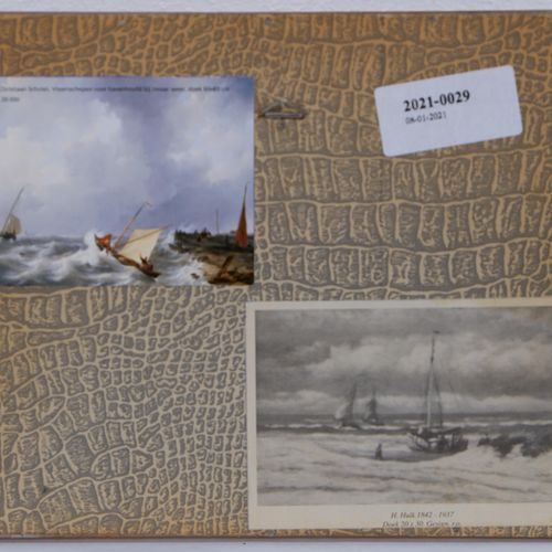 Abraham Hulk (1813 1897) Abraham Hulk (1813 1897), Viisserboten voor de kust, ge…