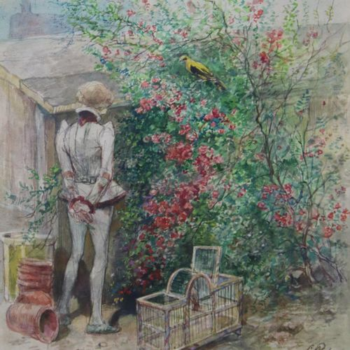 Charles ROCHUSSEN (1814 1894) Charles Rochussen (1814 1894), Knaap met vogelkooi…