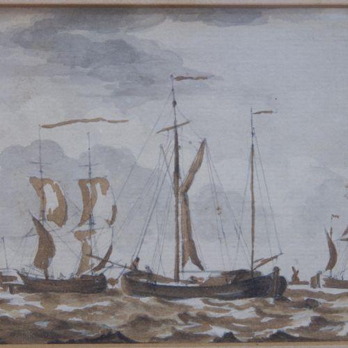 Hollandse School (19e eeuw) (4x) Hollandse School (19e eeuw) (4x), 3x Marine; Ro…