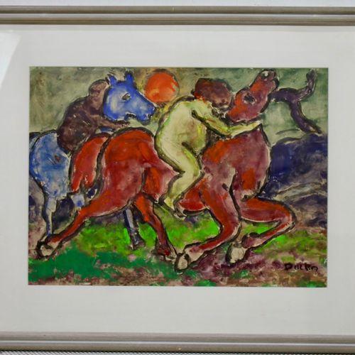 Jacobus Doeser (1884 1970) Jacobus Doeser (1884 1970), Paardenrennen, gesigneerd…