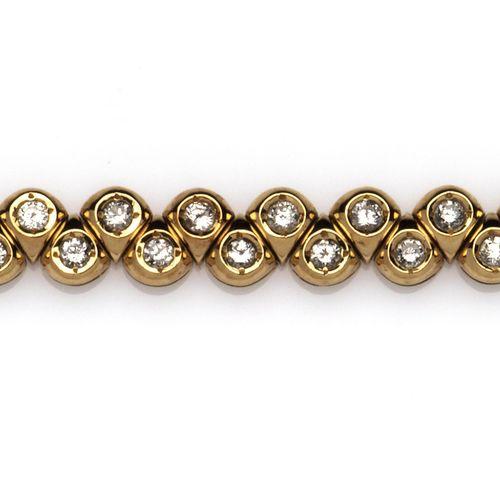 An 18k gold diamond line bracelet Bracelet ligne diamant en or 18k, composé de l…