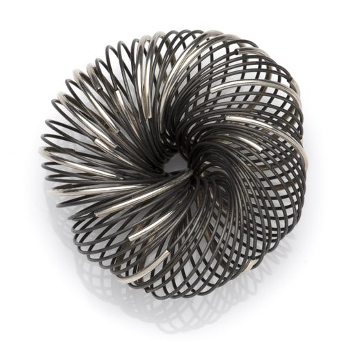 A steel and silver bracelet, by Hans Appenzeller Bracelet en acier et argent, pa…