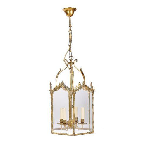 A modern gilt brass and glass 'Carolinian' four light hall lantern by Christophe…