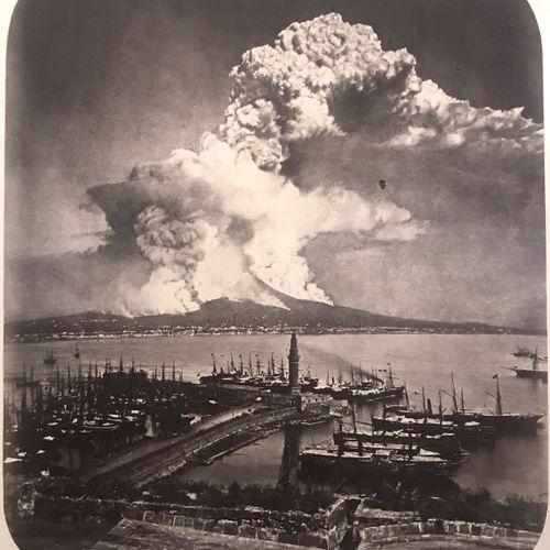 Circle of Roberto Rives and Giorgio Sommer Vesuvius eruption 26 April 1872, phot…