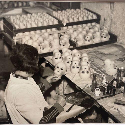 American Press Photographer Santa's worker, Paris, December 1937 Vintage silver …