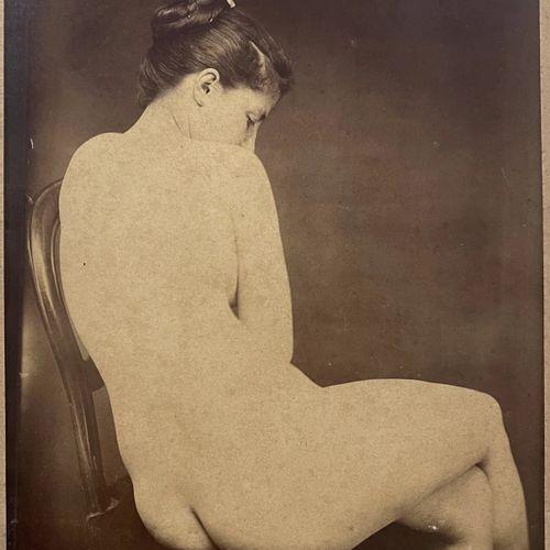 Parisian Studio Nude, Paris, vers 1895 Albumen print, 234x182 mm, small illegibl…