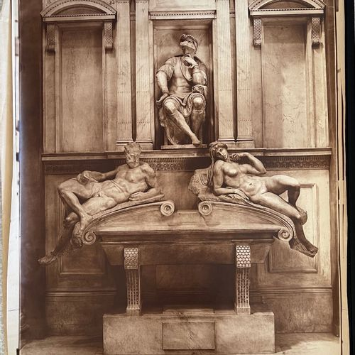 Adolphe Braun (1812 1877) after Michelangelo (1475 1564) Tomb of the Medici, Flo…