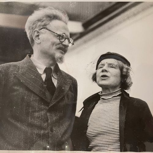 Photoreporter in Mexico Trotsky with his wife Natalia Sedova upon his arrival in…