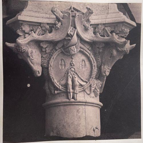 EDOUARD BALDUS (1813 1889) Chapiteaux, Palais du Louvre réuni aux Tuileries, Par…