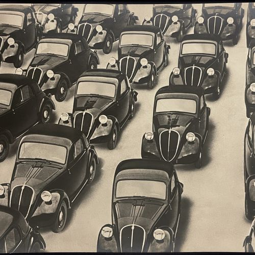 """Sandro Guida (active 1937 1939) """"Hall des voitures neuves"""" (New cars concourse) …"""
