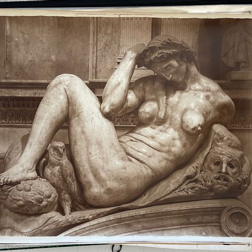 Adolphe Braun (1812 1877) after Michelangelo (1475 1564) Statues of the Day and …