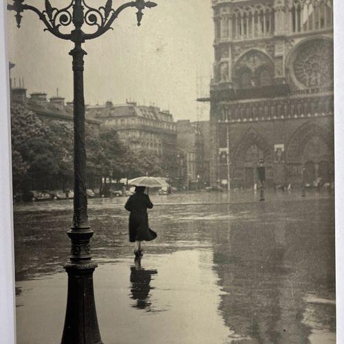 Mr. E. Marchesi (active 1939) Paris under the rain, c. 1939.