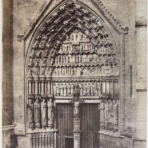 CHARLES BOSSU DIT MARVILLE (1813 1879) Lateral Porch, Amiens Cathedral, 1853 Sal…
