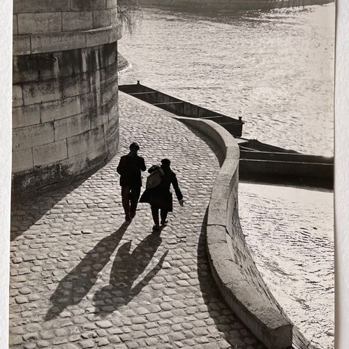 Mr. E. Marchesi (active 1939) On the Docks of Ile St. Louis, two characters, c. …