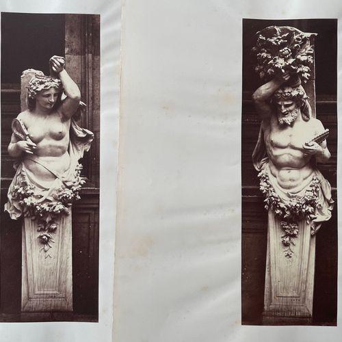 EDOUARD BALDUS (1813 1889) Éléments décoratif des Tuileries, Paris, c. 1855 Two …