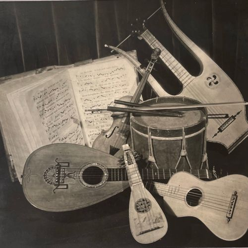 Roger PARRY (1905 1977) Homage to Severini / De Chirico, Lyre, violin, lute, gui…