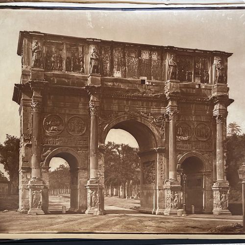 Adolphe Braun (1812 1877) Arch of Constantine, Rome, c. 1868 Mammoth size carbon…