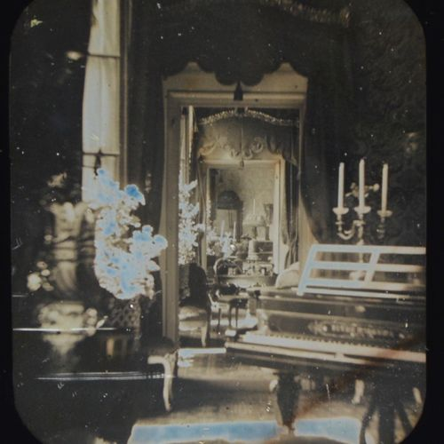 Circle of Alphonse Bernoud and Alexis Gaudin Interior with bunches of flowers an…