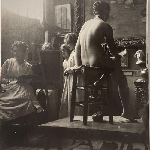 Georgette Chadourne (1899 1983) An Academy of Women, Paris, 1917 Vintage silver …