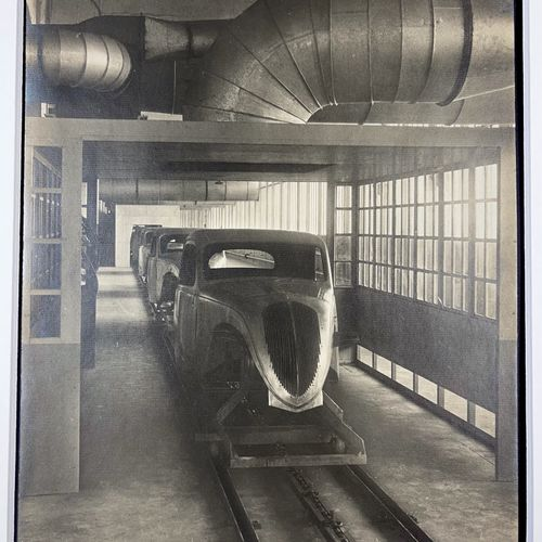 Sandro Guida (active 1937 1939) Dryinh tunnel, Paint shop, Paris Vintage silver …
