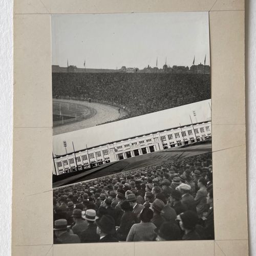WILLY KESSELS (1898 1974) Crowd at the Heysel stadium Brussels 1930 original pho…