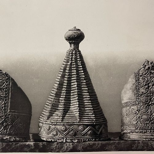 Charles Nègre (1820 1880) Tiara and miters, Stone Gospels, Plaster casts of orna…