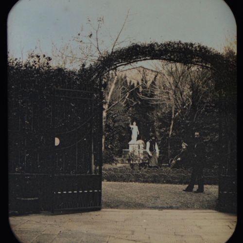 Alphonse Bernoud (1820 1889) Self portrait in the garden, 1854 Colored stereo da…