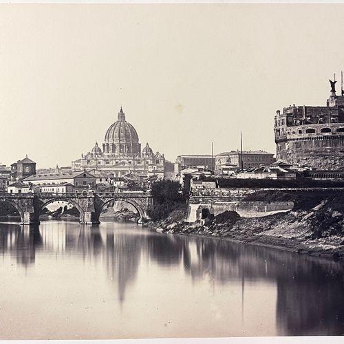 James Anderson (1813 1877) Castel San Angelo, Rome, 1856 Albumen print, 230x366 …