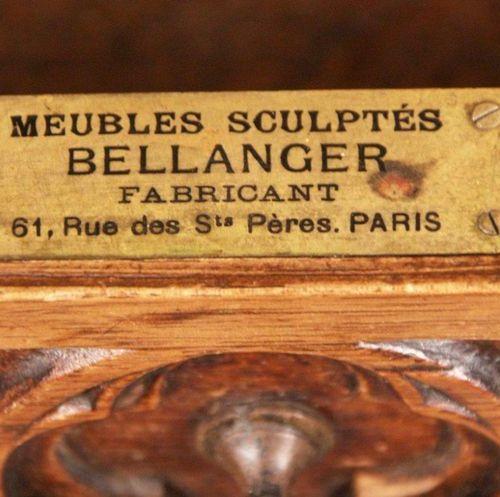 Historismus Regal/Konsole Frankreich um 1870,in neogotischem Stil konzipiert, Nu…