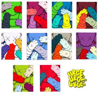 KAWS_Urge l'ensemble complet de dix sérigraphies en couleurs, 2020, sur papier S…