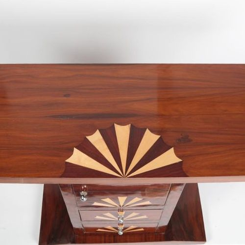 Console in Santos rosewood veneer and marquetry, sicomore and rio rosewood, two …
