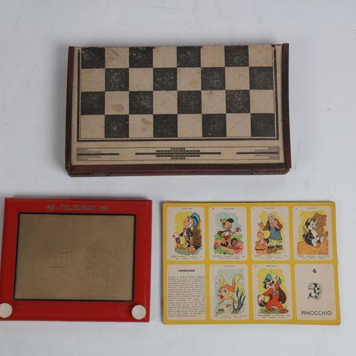 Lot of 5 games: Halma, Monopoly, Casimir, telecran, set of jackets, large set of…
