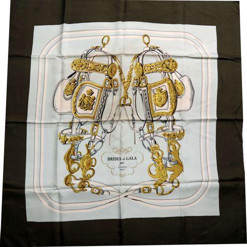 """HERMÈS Paris"", Carré, silk scarf ""bride de Gala"". By Hugo Grygkar, lettering ""H…"