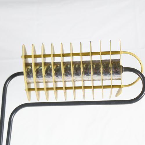 RELCO, Milano, Lampadaire en métal halogène, réflecteur à ailettes. Ht : 190