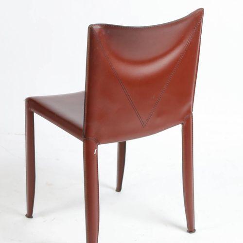 CATTELAN, Italia, chaise en cuir bordeaux.