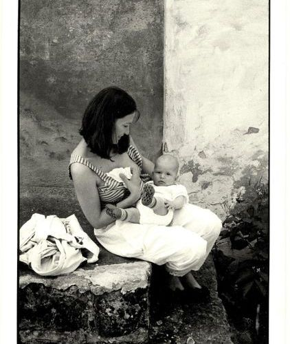 Tuma, S. (1950 2005). (A woman about to breastfeed her baby). Gelatin silver pri…